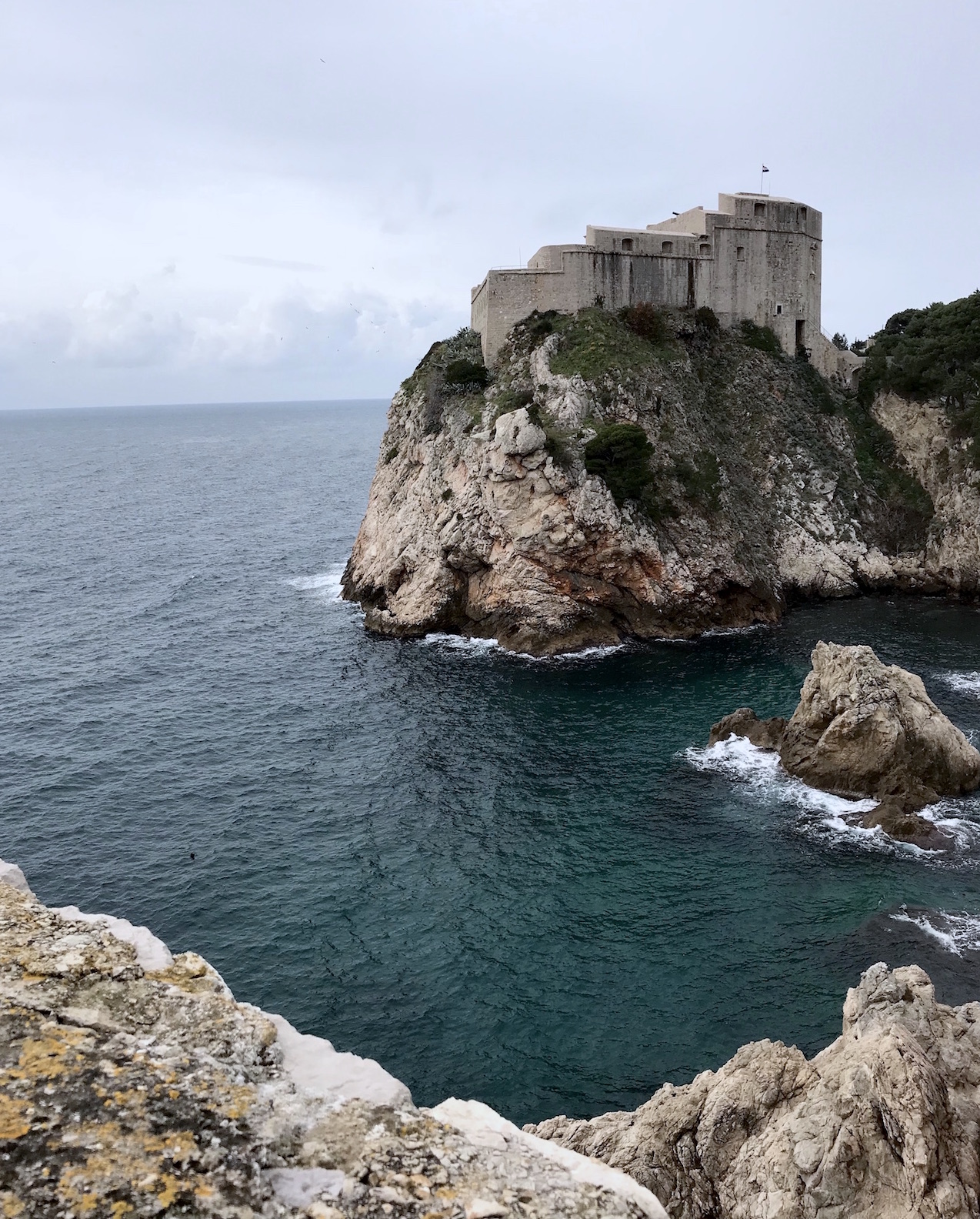 fort lovrijenac in dubrovnik, croatia