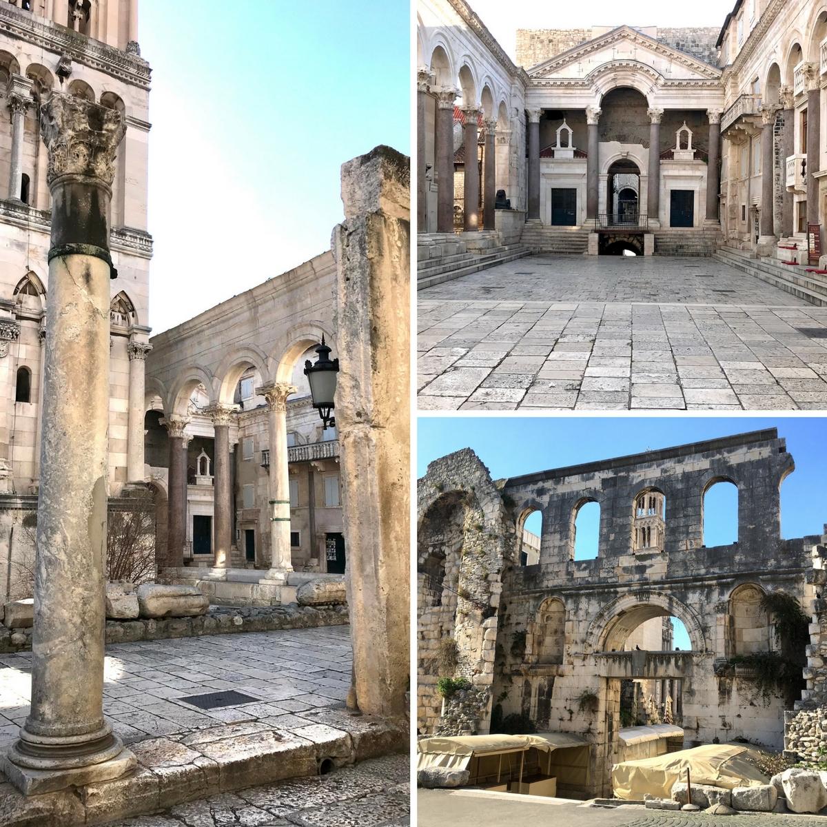 Walking through Diocletian's Palace in Split, Croatia