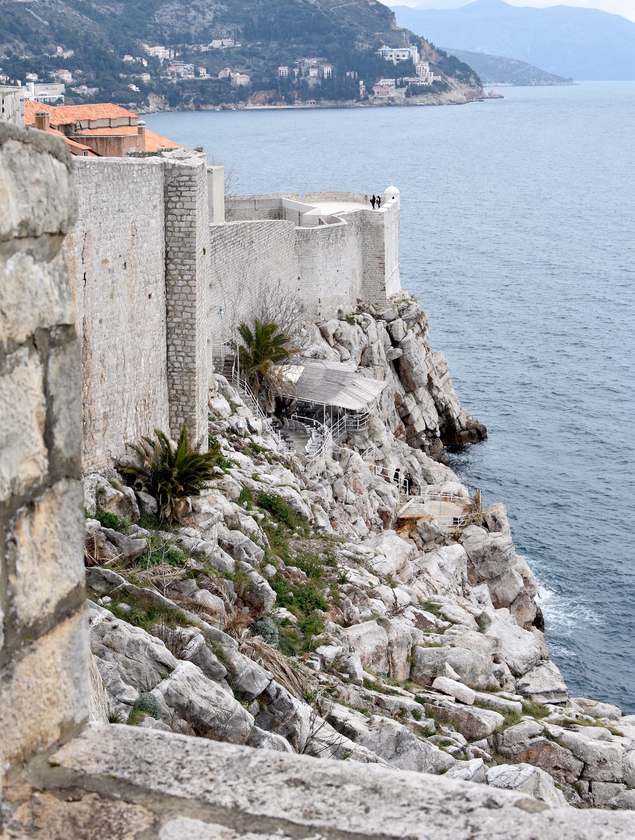 Winter visit to Dubrovnik, Croatia, where we saw the Buza Bar from the city wall